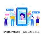 social media concept... | Shutterstock .eps vector #1312218218