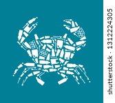 ocean plastic pollution.... | Shutterstock .eps vector #1312224305