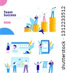 business team. business people... | Shutterstock .eps vector #1312233512
