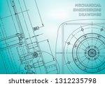 blueprint. vector drawing.... | Shutterstock .eps vector #1312235798
