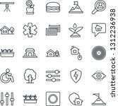 thin line icon set   disabled... | Shutterstock .eps vector #1312236938