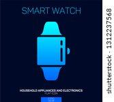 smart watch gradient icon | Shutterstock .eps vector #1312237568