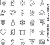 thin line icon set   pennant... | Shutterstock .eps vector #1312240805