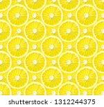 slice of lemon fruit background ... | Shutterstock . vector #1312244375