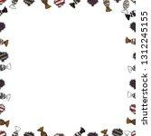 vector background with hand... | Shutterstock .eps vector #1312245155