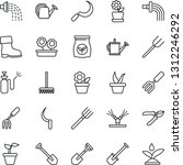 thin line icon set   job vector ... | Shutterstock .eps vector #1312246292