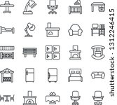 thin line icon set   cafe... | Shutterstock .eps vector #1312246415