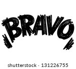 bravo header   retro clip art... | Shutterstock .eps vector #131226755