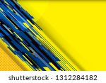 yellow abstract background with ... | Shutterstock .eps vector #1312284182