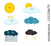 cute weather characters | Shutterstock .eps vector #131228675