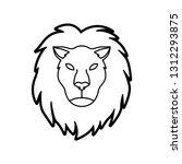 thin line leo horoscope icon   Shutterstock .eps vector #1312293875