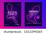 dj event. geometric show... | Shutterstock .eps vector #1312294265