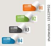 abstract paper infografics.... | Shutterstock .eps vector #131229932