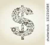 dollar made of a science. a... | Shutterstock .eps vector #1312316585