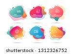 dynamic liquid shapes. set of... | Shutterstock .eps vector #1312326752