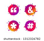 quote  asterisk footnote icons. ... | Shutterstock .eps vector #1312326782