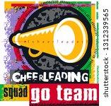retro 1990's grunge cheerleader ... | Shutterstock .eps vector #1312339565