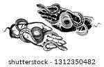 vector illustration  snake on... | Shutterstock .eps vector #1312350482