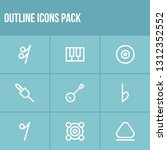 melody icon set and webcam with ...