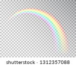 rainbow isolated on transparent ... | Shutterstock .eps vector #1312357088