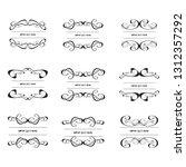 set of vector vintage frames on ... | Shutterstock .eps vector #1312357292