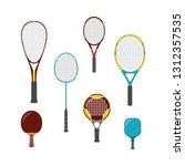 set of sport game equipment  ... | Shutterstock .eps vector #1312357535