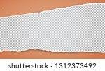torn white horizontal squared... | Shutterstock .eps vector #1312373492