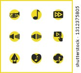 musical icons set with music...