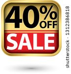 40  off sale golden label with... | Shutterstock .eps vector #1312386818
