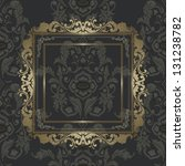 vintage gold picture frame on... | Shutterstock .eps vector #131238782