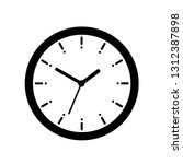 alarm clock icon. flat style  ... | Shutterstock .eps vector #1312387898