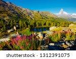breathtaking view of matterhorn ... | Shutterstock . vector #1312391075