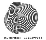 black and white stripe line... | Shutterstock .eps vector #1312399955