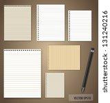 vector set  vintage paper... | Shutterstock .eps vector #131240216