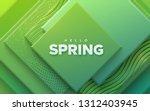 hello spring. modern cover... | Shutterstock .eps vector #1312403945