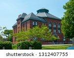 Stoughton town hall at Washington Street at the town center of Stoughton, Massachusetts MA, USA.