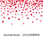 red flying hearts bright love... | Shutterstock .eps vector #1312408898