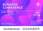 business conference invitation... | Shutterstock .eps vector #1312418525