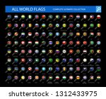 magnifying glass flag icons... | Shutterstock .eps vector #1312433975