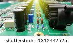 circuit board with electronic... | Shutterstock . vector #1312442525