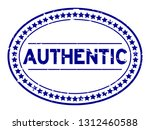 grunge blue authentic oval... | Shutterstock .eps vector #1312460588