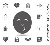emoji kiss icon. simple glyph ...