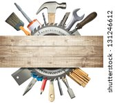 carpentry  construction collage.... | Shutterstock . vector #131246612
