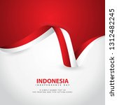 indonesia independence day...   Shutterstock .eps vector #1312482245