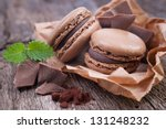 macaroons with chocolate | Shutterstock . vector #131248232