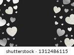 silver hearts background design ... | Shutterstock .eps vector #1312486115
