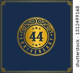 44th anniversary celebration ...   Shutterstock .eps vector #1312499168