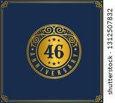 46th anniversary celebration ...   Shutterstock .eps vector #1312507832