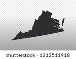 virginia map   usa  united... | Shutterstock .eps vector #1312511918