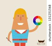 designer hold color charts | Shutterstock .eps vector #131251568